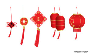 Chinese new year. Set of design elements